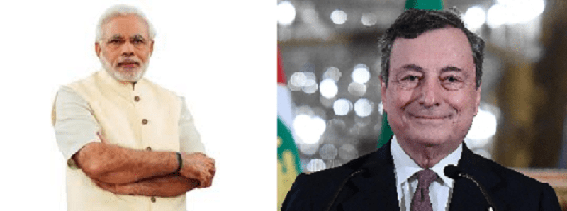 Prime Minister Shri Narendra Modi speaks on telephone with Prime Minister of Italy H.E. Mr. Mario Draghi