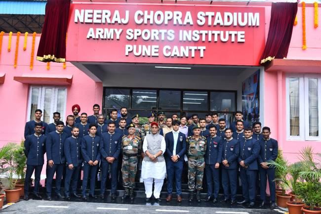 Raksha Mantri Shri Rajnath Singh Unveils Army Sports Institute Stadium Named After Neeraj Chopra