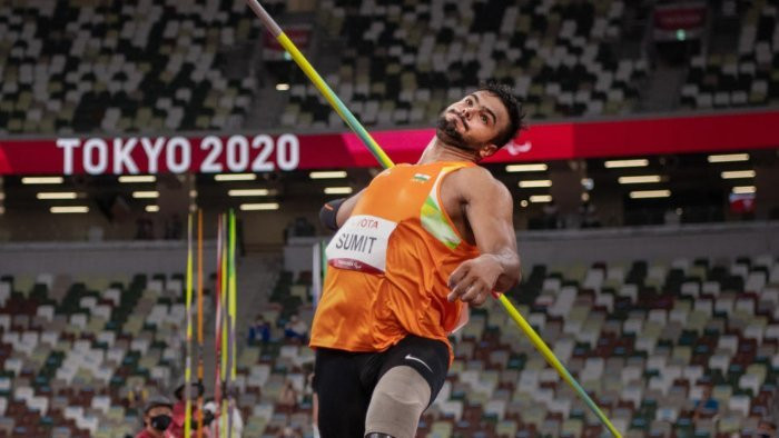 Sumit Antil wins F64 Javelin Throw gold medal with World record on his debut at Paralympic Games