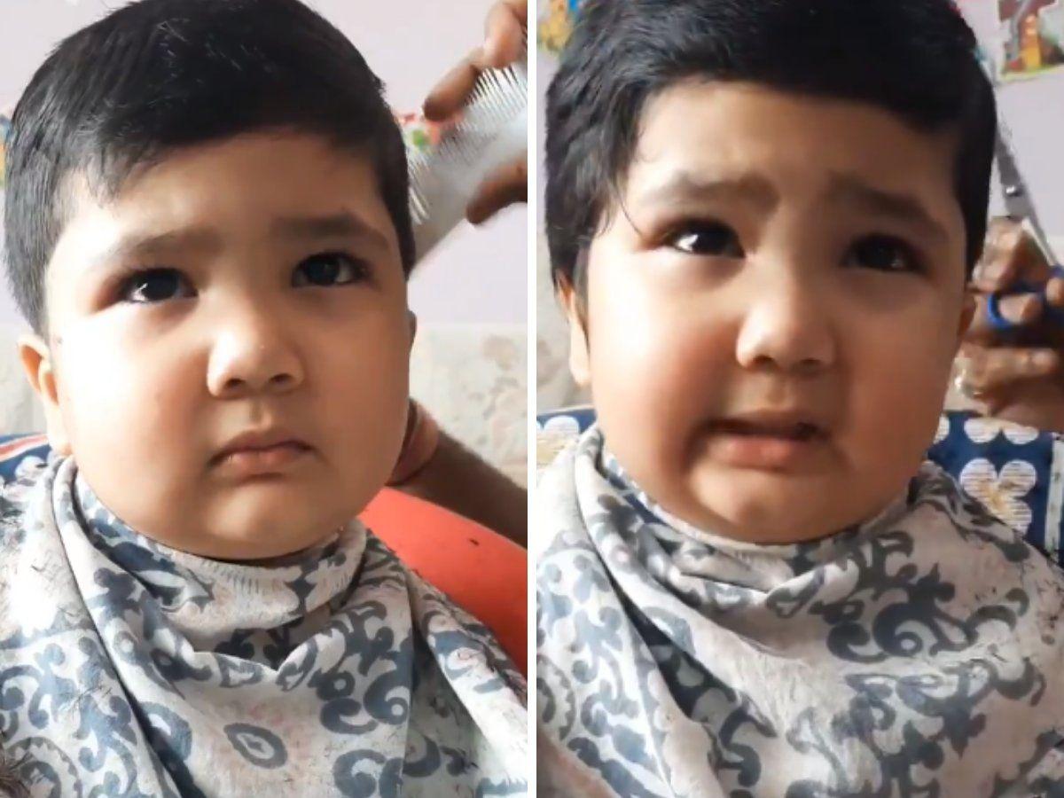 Baby Anushrut - Video opposing hair style