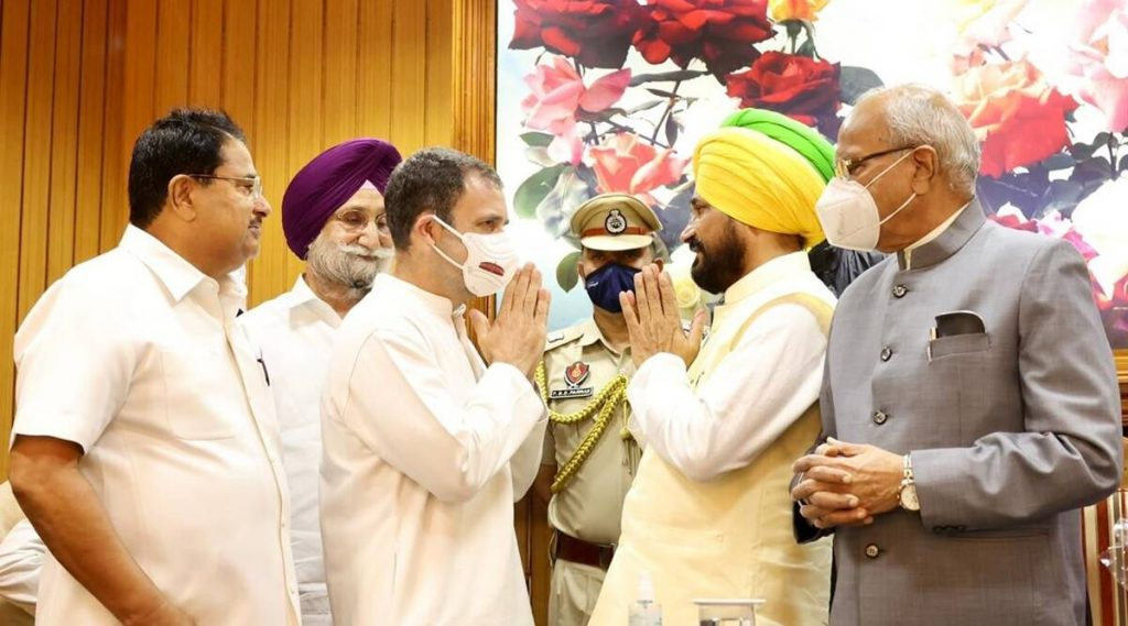 CHARANJIT SINGH CHANNI SWORN IN AS CHIEF MINISTER OF PUNJAB