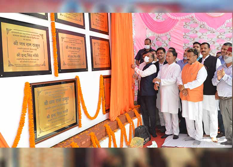 CM inaugurates and lays foundation stones of projects worth Rs. 172.10 crore in Balh Constituency