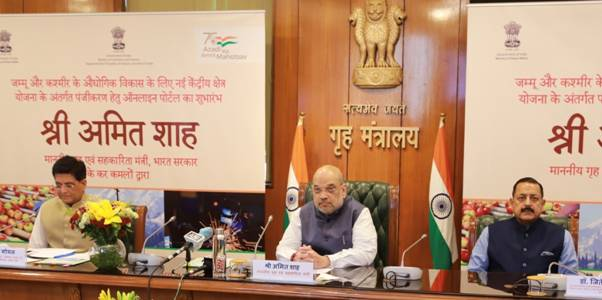 Union Home & Cooperation Minister Shri Amit Shah launched web portal for registration of units under 'New Central Sector Scheme' for Industrial Development of Jammu and Kashmir through video conferencing