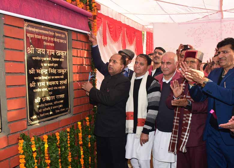 Chief Minister Jai Ram Thakur while addressing a largely attended public meeting at Rewalsar in Balh Vidhan Sabha area of Mandi district today announced