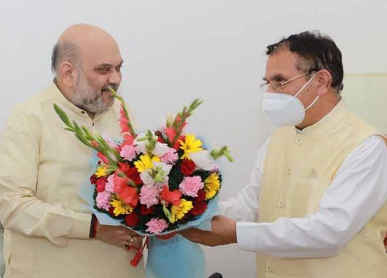 suresh-bhardwaj-calls-on-union-home-minister