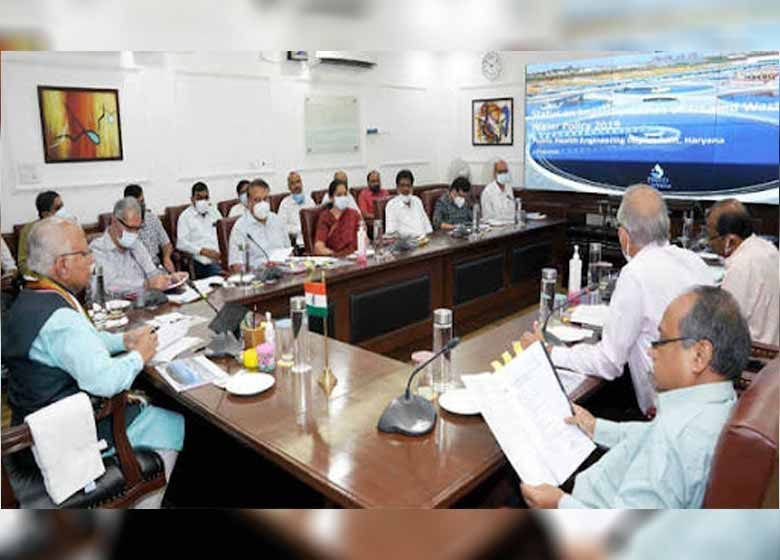 ensure maximum use of treated wastewater manohar lal chief minister holds review meeting on the reuse of wastewater