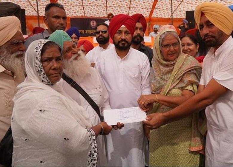 punjab cm disburses cheques worth rs. 27 crore for 63 villages in block morinda