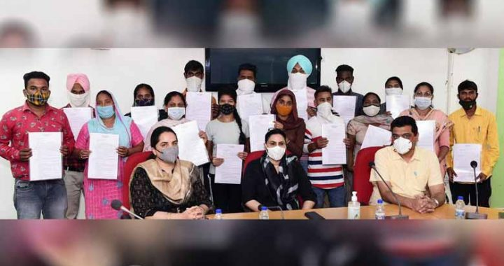 razia sultana hands over job letters to 22 candidates on compassionate ground