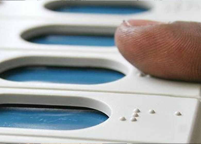 visually impaired voters to use braille signage feature to vote